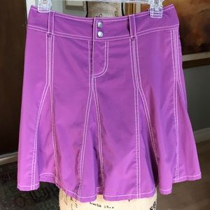 Athleta Purple Skort Button/Zipper Front